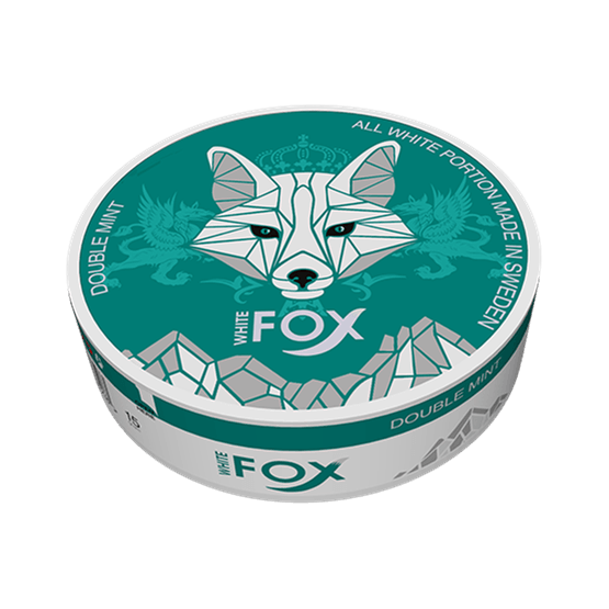 White Fox Double Mint Slim All White Portion