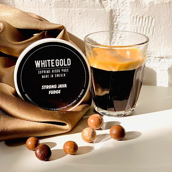 White Gold Nicotine Pouch Java Fudge